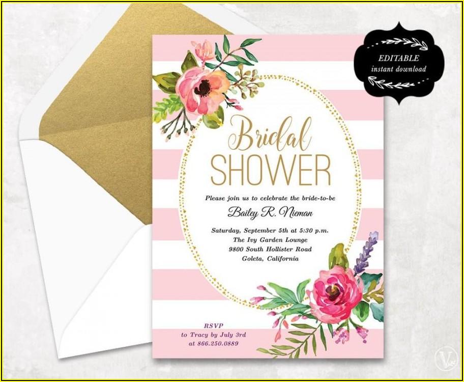 Free Bridal Shower Invitation Templates Microsoft Word