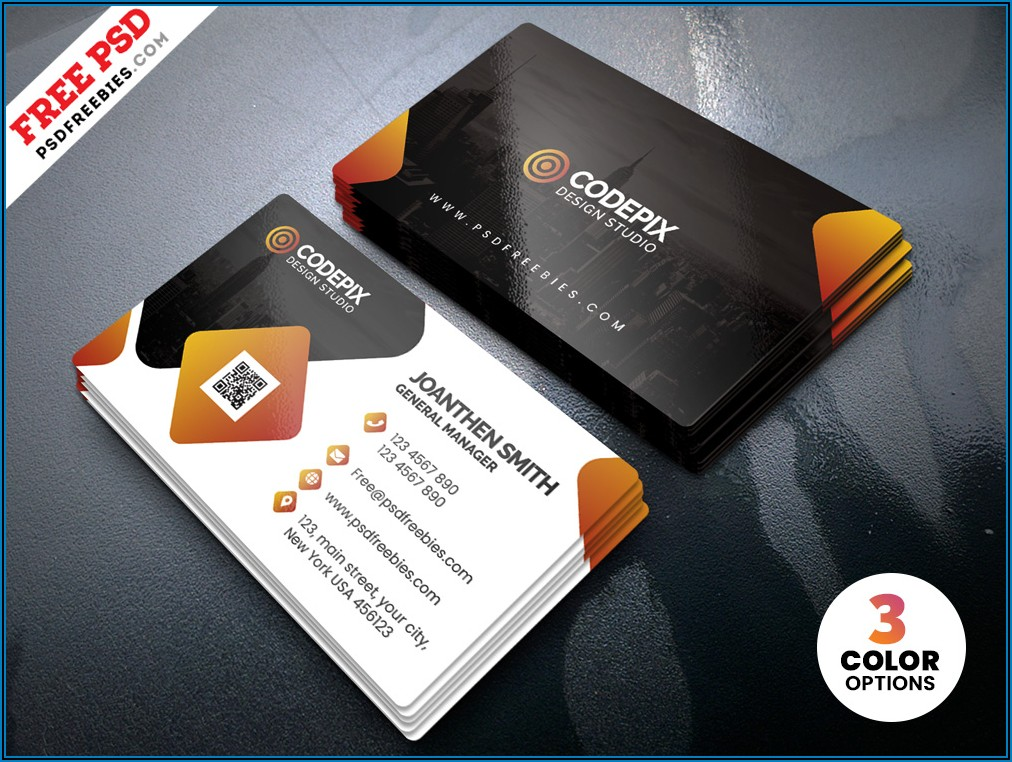 Free Business Card Templates For Adobe Photoshop