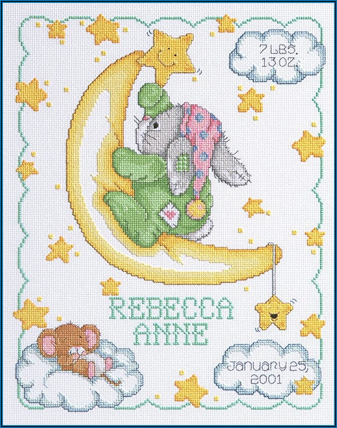 Free Counted Cross Stitch Baby Announcement Patterns
