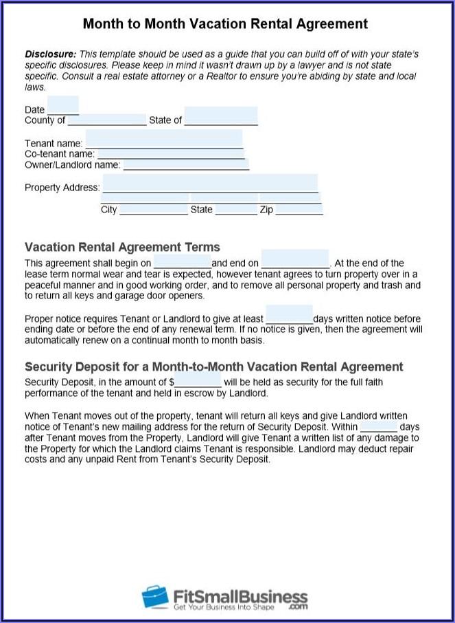 Free Download Room Rental Agreement Form