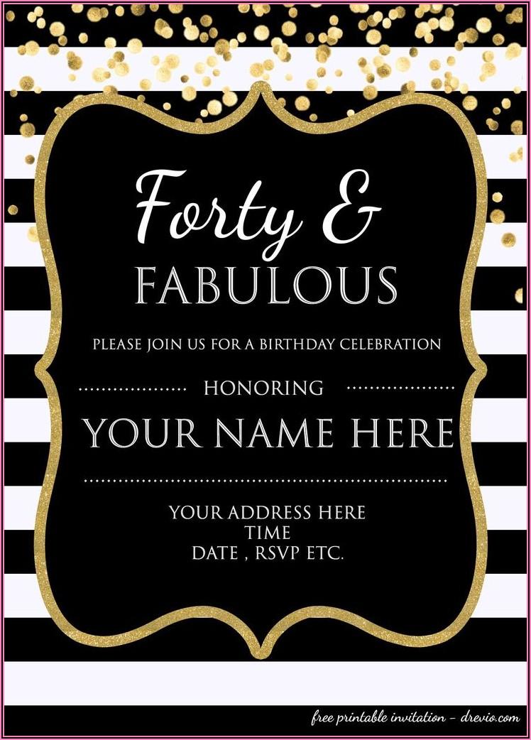 Free Editable 50th Birthday Invitation Templates