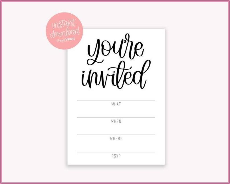 Free Editable Invitation Templates For Word