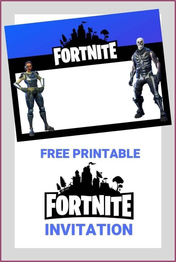 Free Fortnite Birthday Invitations Printable