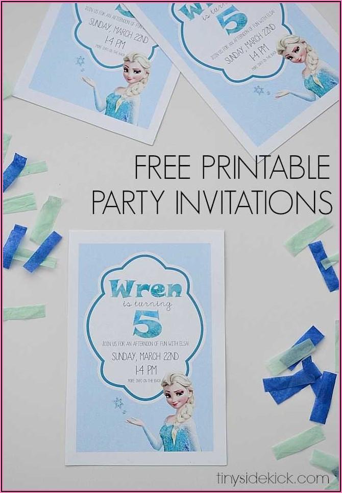 Free Frozen Birthday Invitations Printable