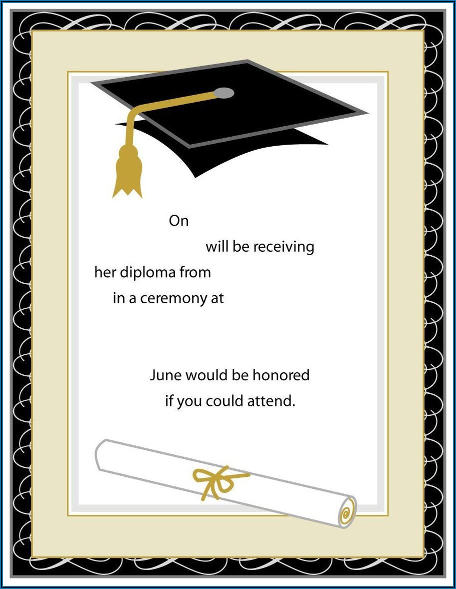 Free Graduation Ceremony Invitation Templates For Word
