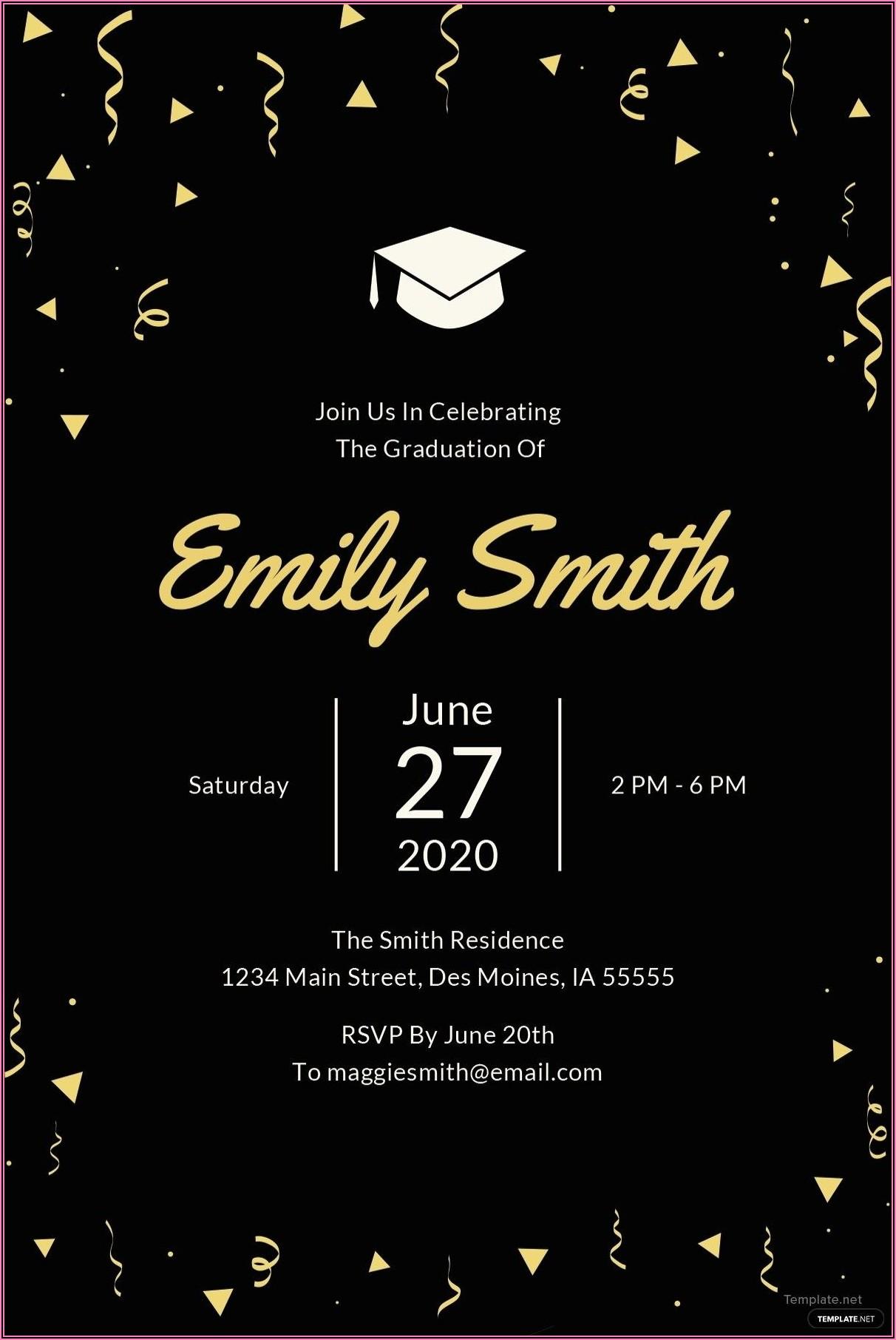 Free Graduation Invitation Template Microsoft Word