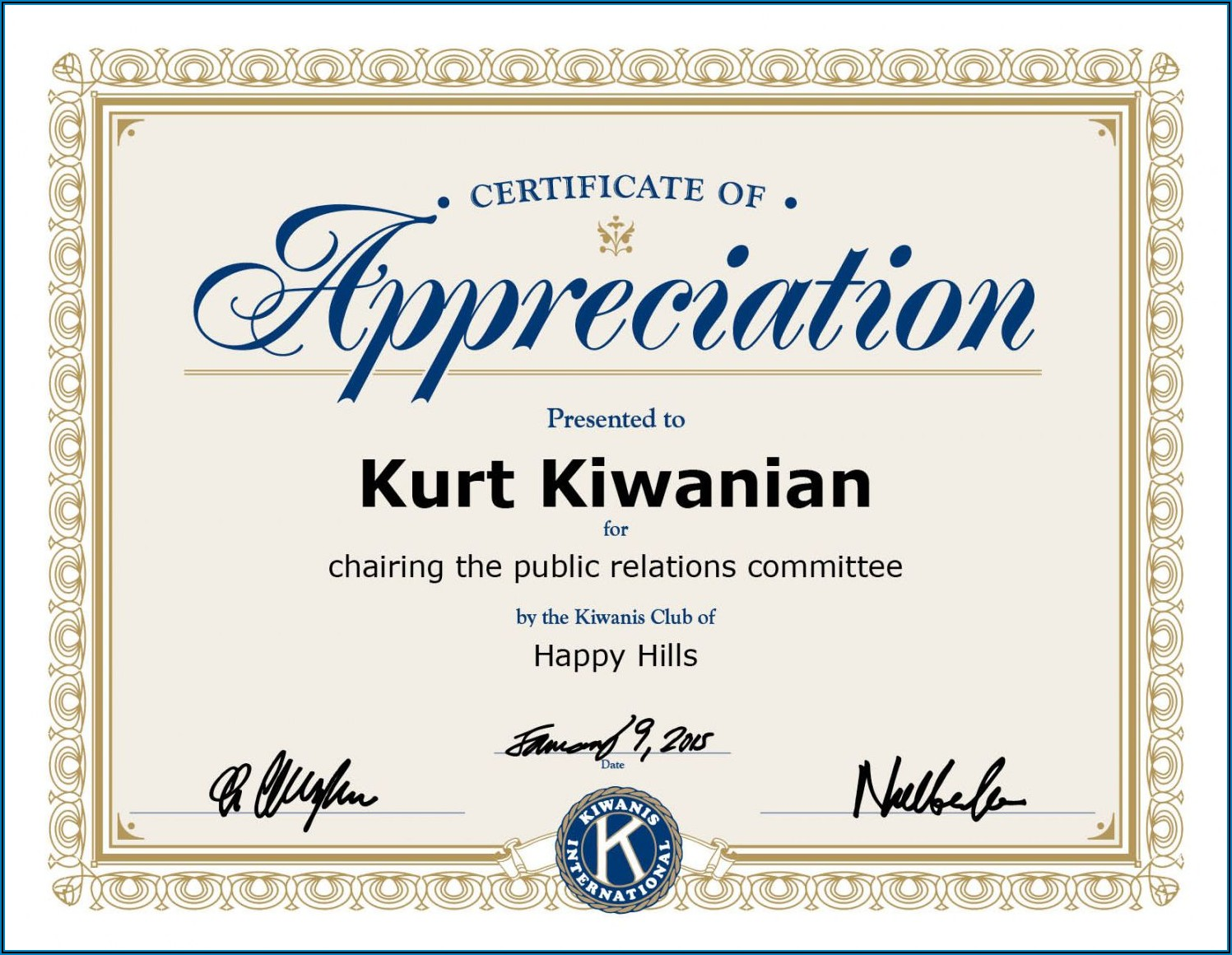 Free Honorary Membership Certificate Template