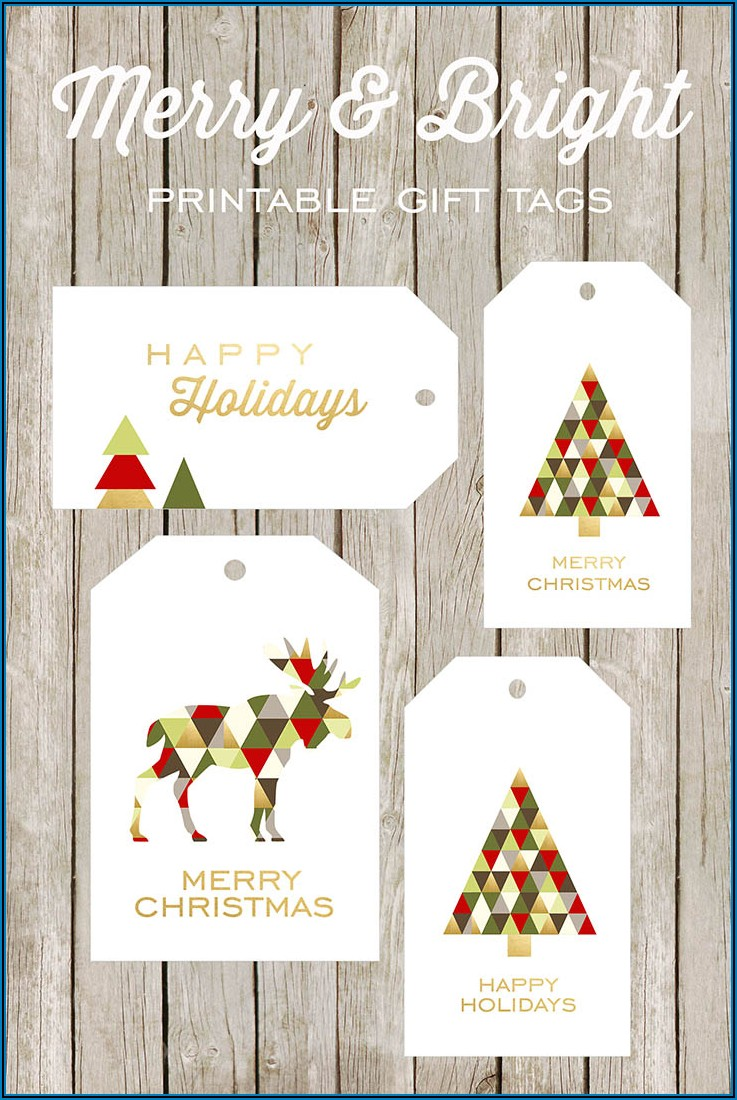 Free Large Christmas Gift Tag Template