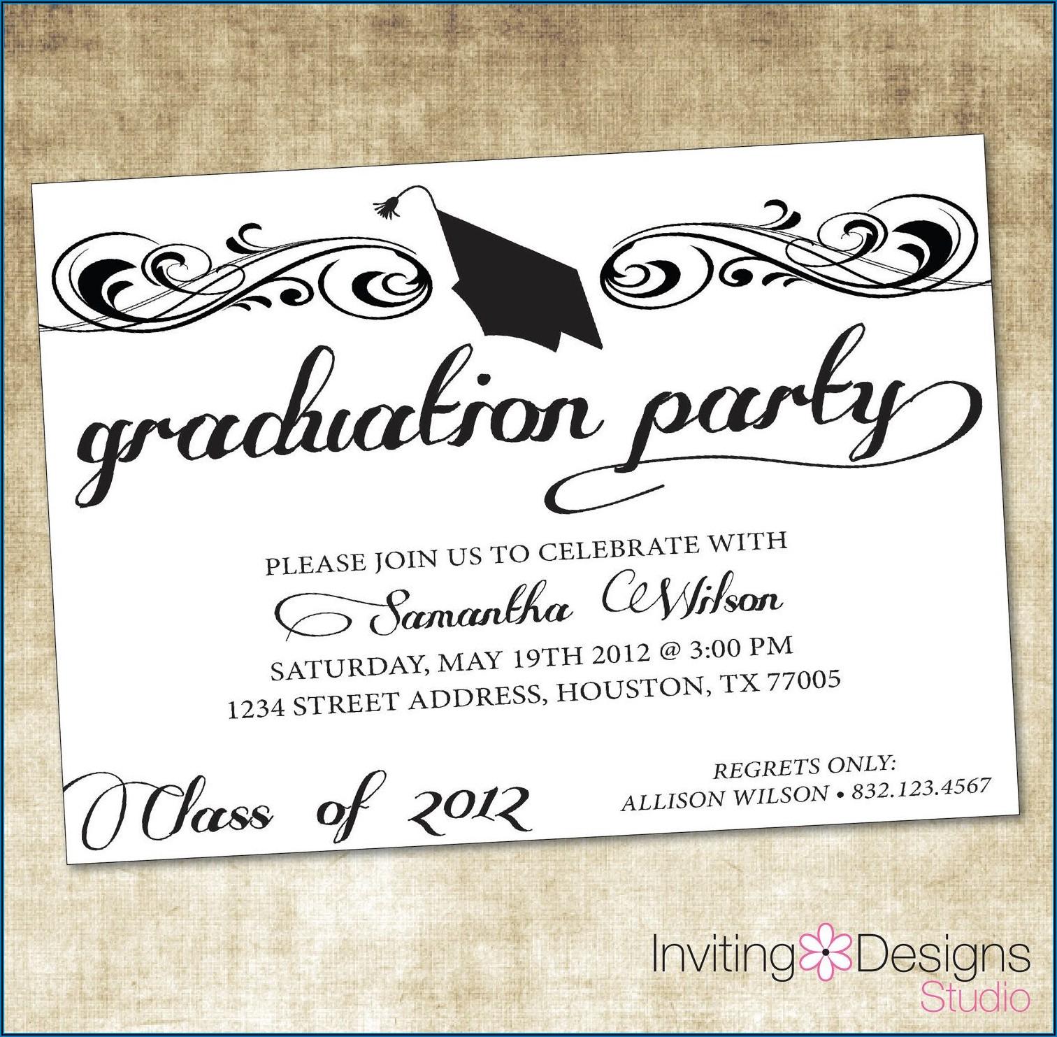 Free Printable College Graduation Announcements Templates