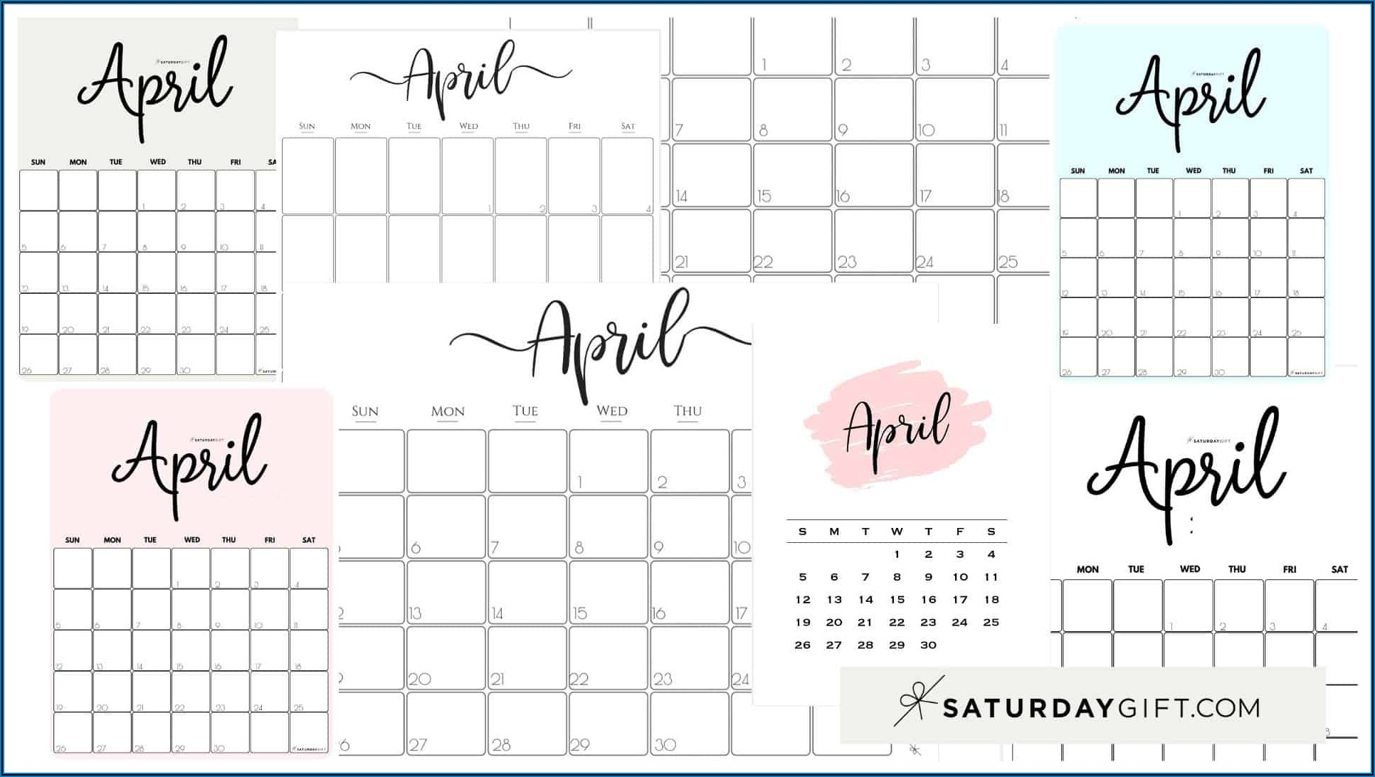 Free Printable Pregnancy Announcement Calendar April 2021