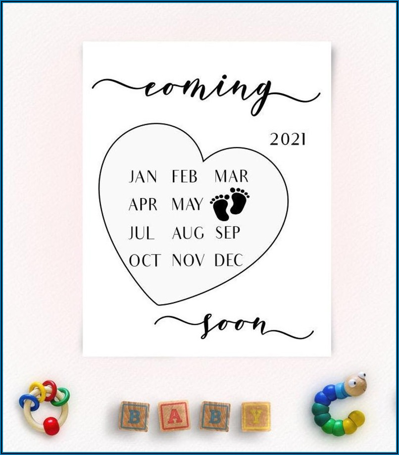 Free Printable Pregnancy Announcement Calendar June 2021