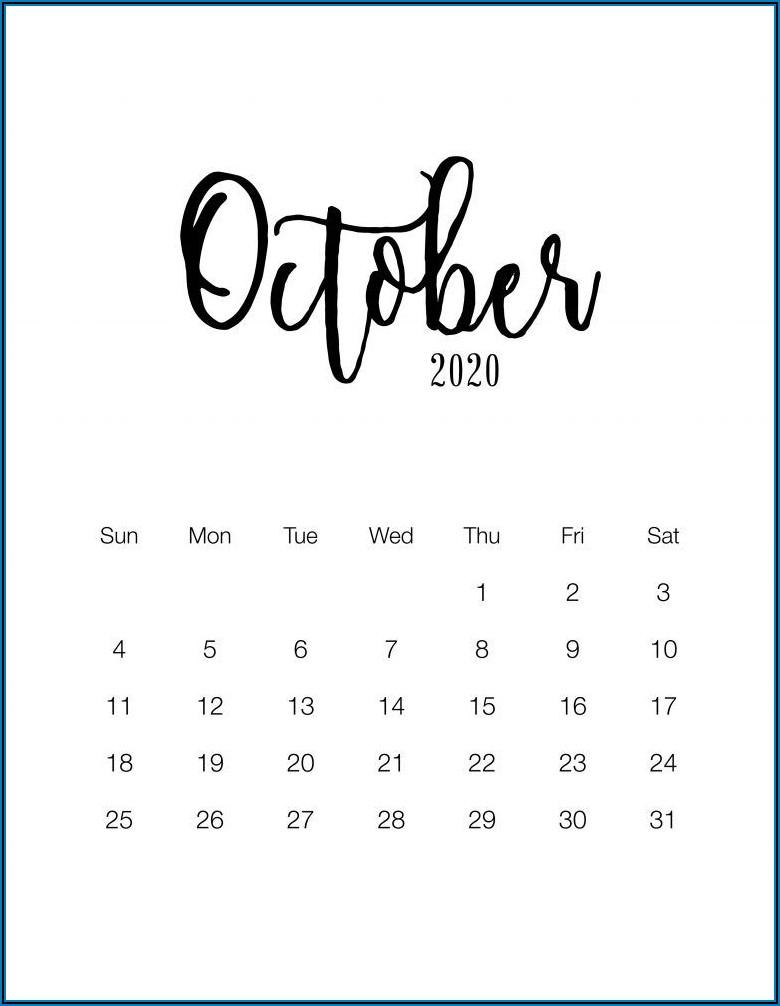 Free Printable Pregnancy Announcement Calendar October 2020