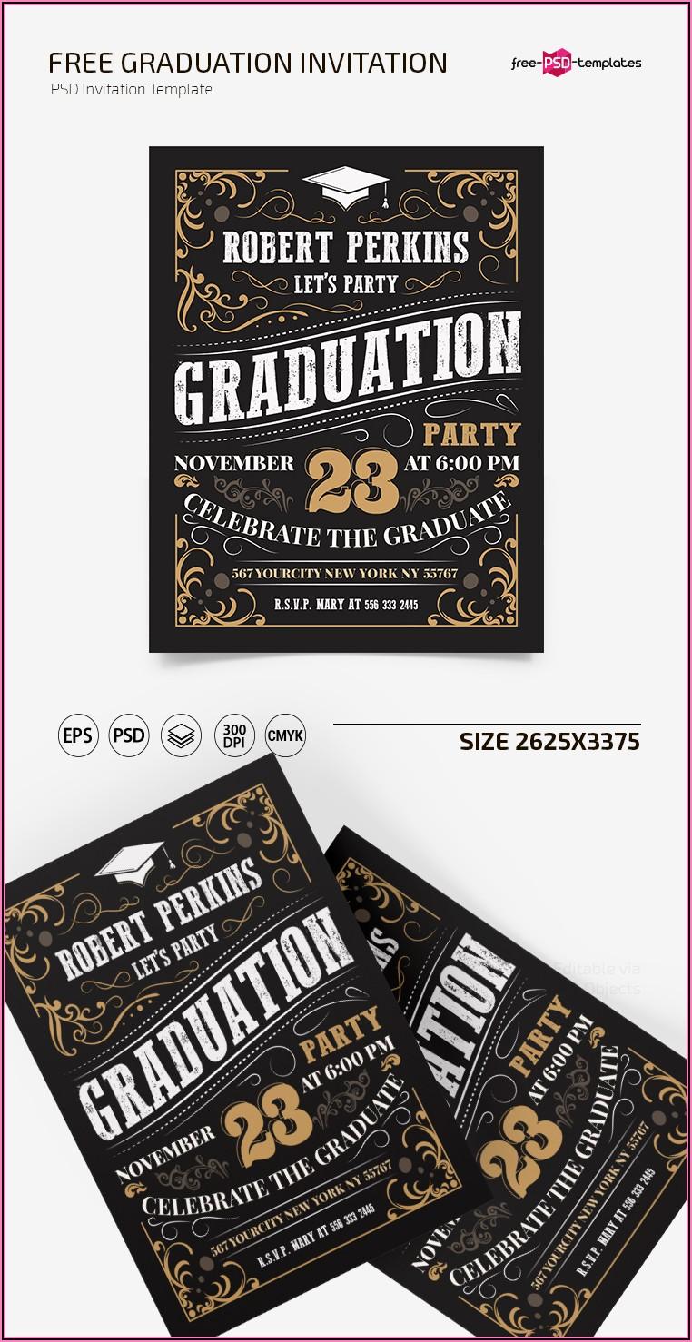 Free Psd Graduation Invitation Templates