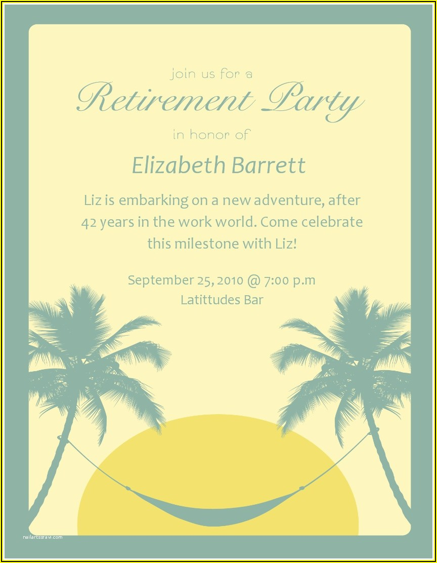 Free Retirement Party Invitation Flyer Templates