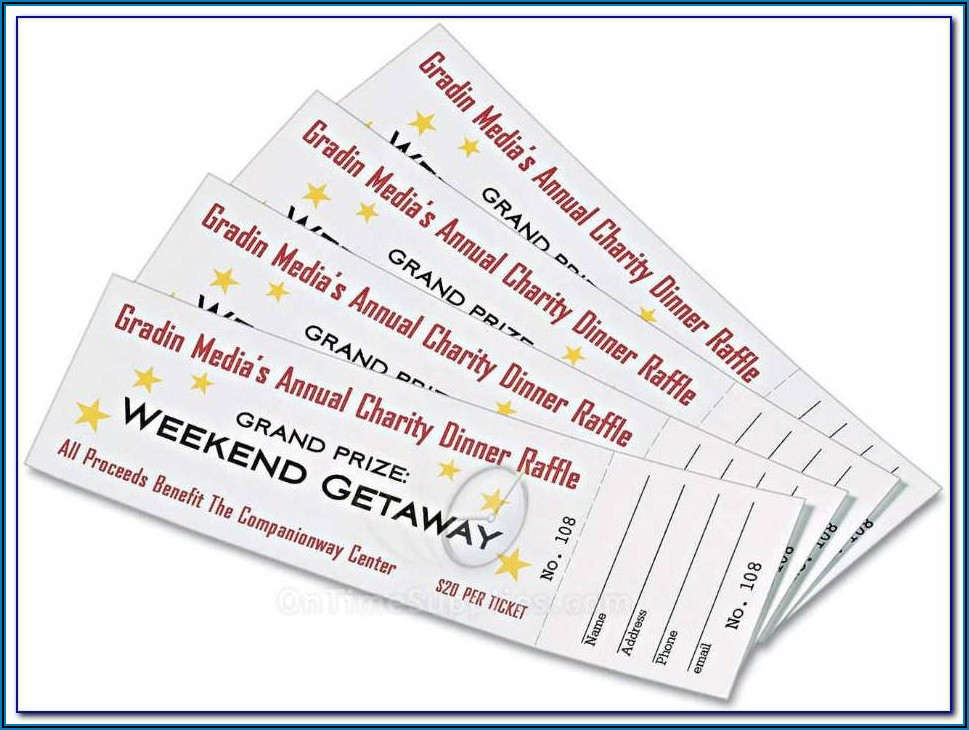 Free Template For Tickets With Stubs