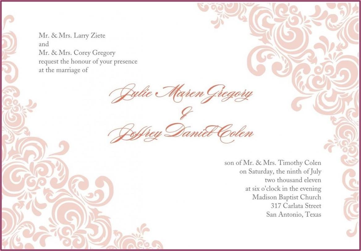 Free Wedding Invitation Templates Download