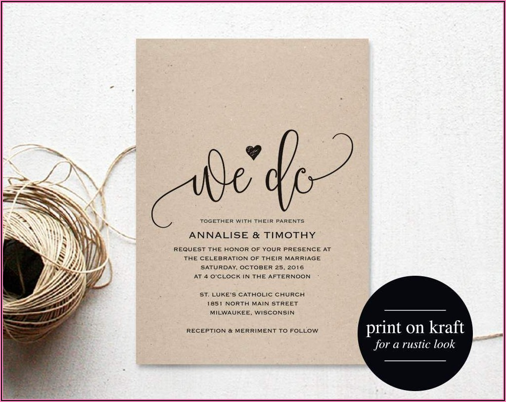 Free Wedding Invitation Templates For Word 2007