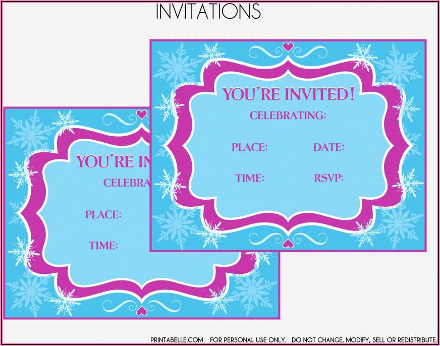 Frozen Birthday Invitations Free Download