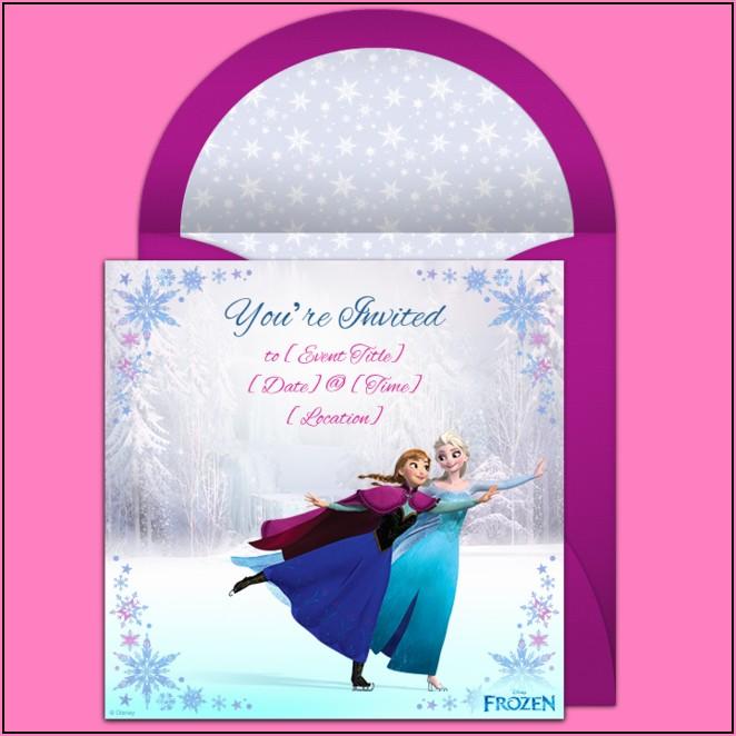 Frozen Birthday Invitations Online Free