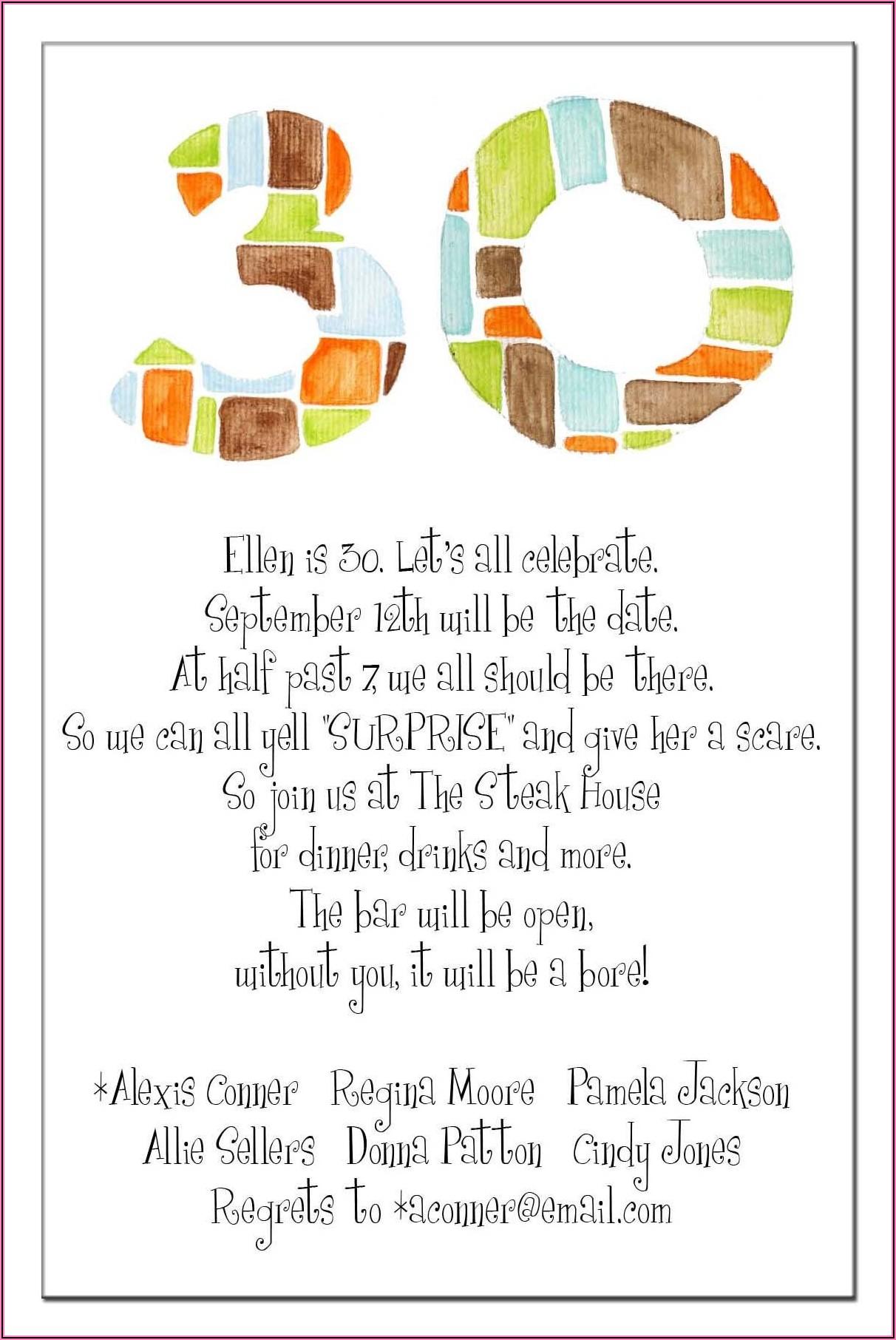 Funny 40th Surprise Birthday Invitations
