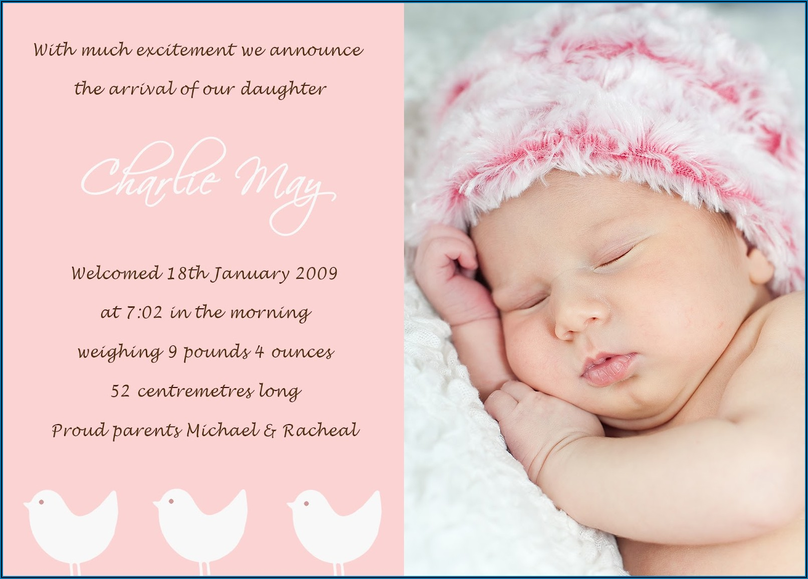 Funny Baby Announcement Wording