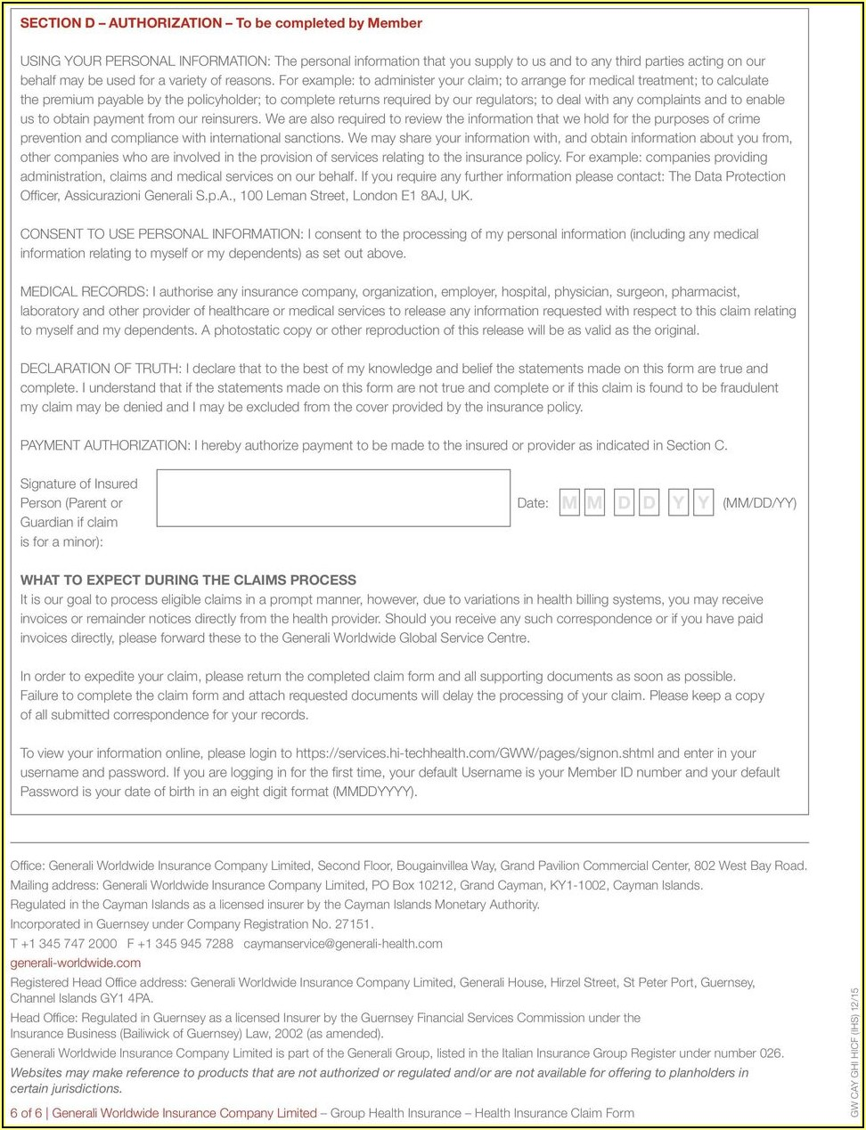 Ghi Dental Insurance Forms