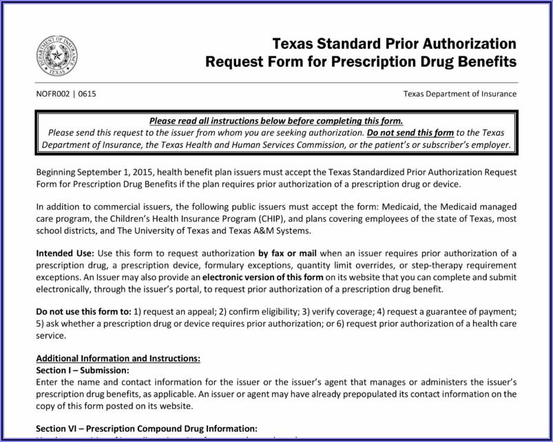 Health Care Authorization Form