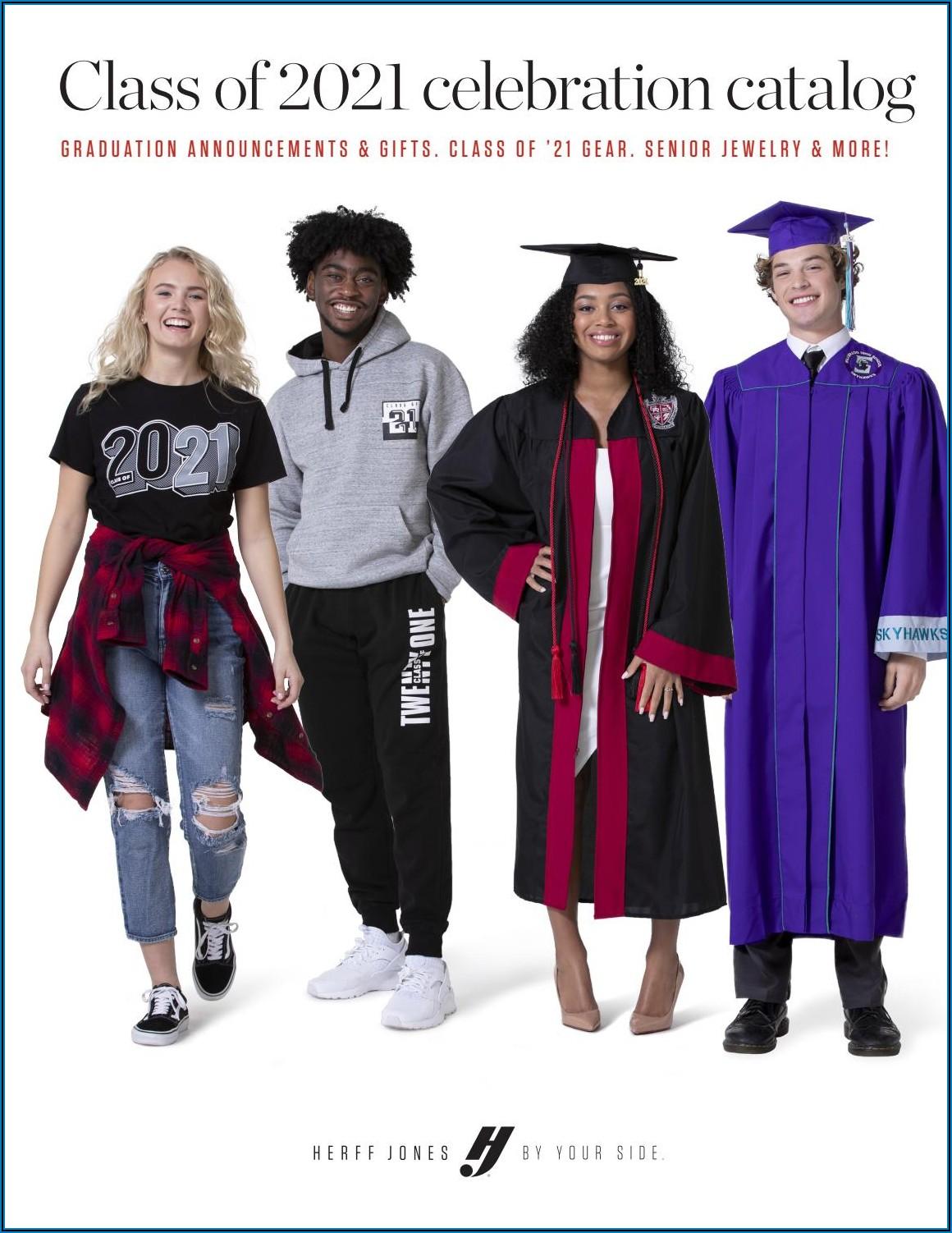 Herff Jones Graduation Announcement Size