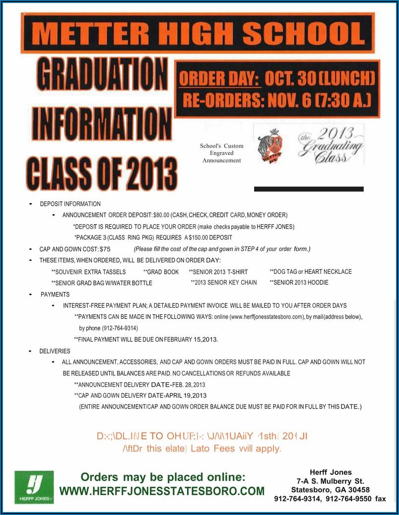 Herff Jones Uf Graduation Announcements