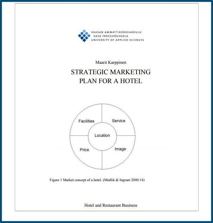 Hotel Sales And Marketing Plan Template