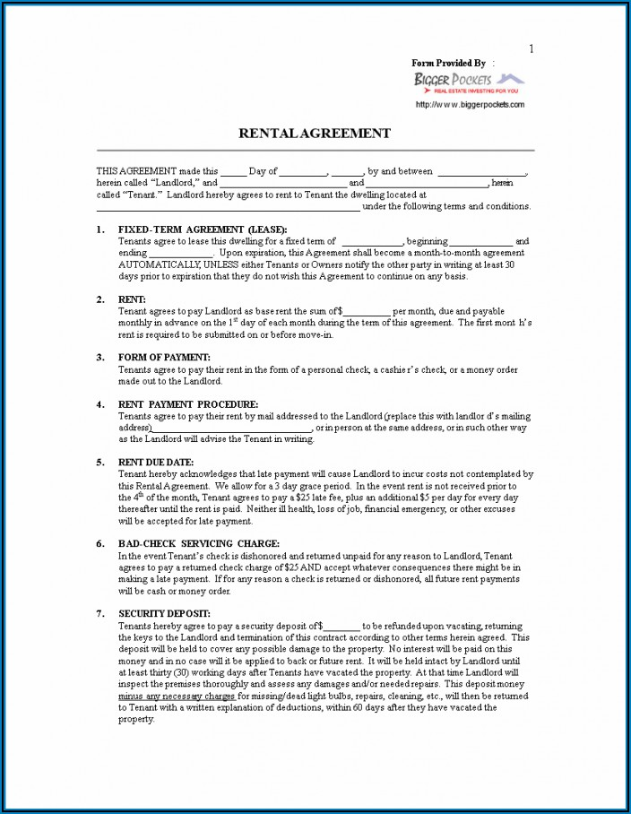 House Rental Contract Templates