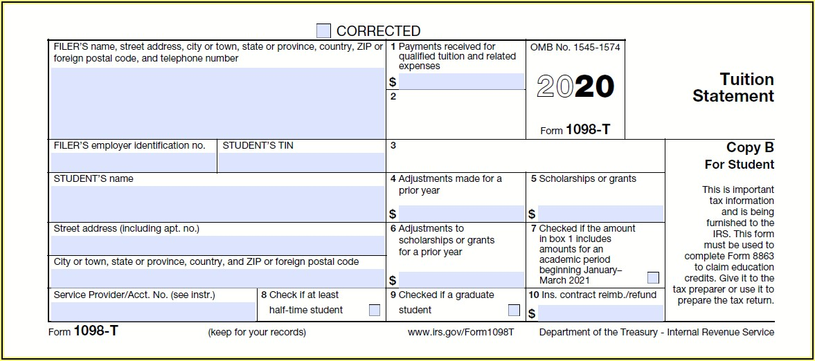 How To File 1098 T Tax Form