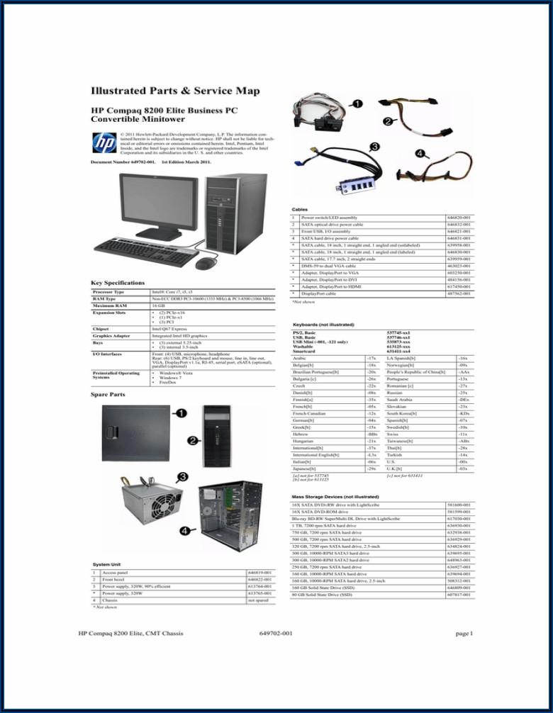 Hp Compaq Elite 8300 Small Form Factor Pc Manual