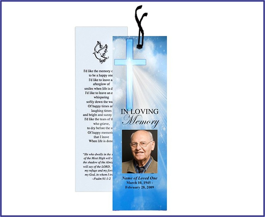 In Loving Memory Bookmark Template Free Download