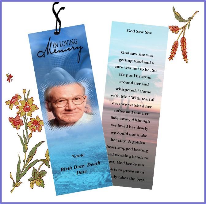 In Loving Memory Bookmark Template Free