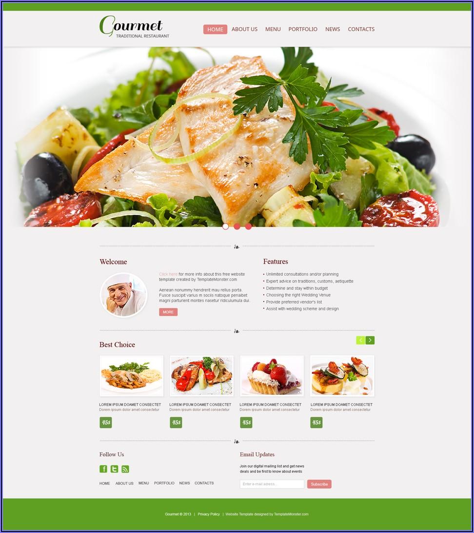 Indian Restaurant Website Templates
