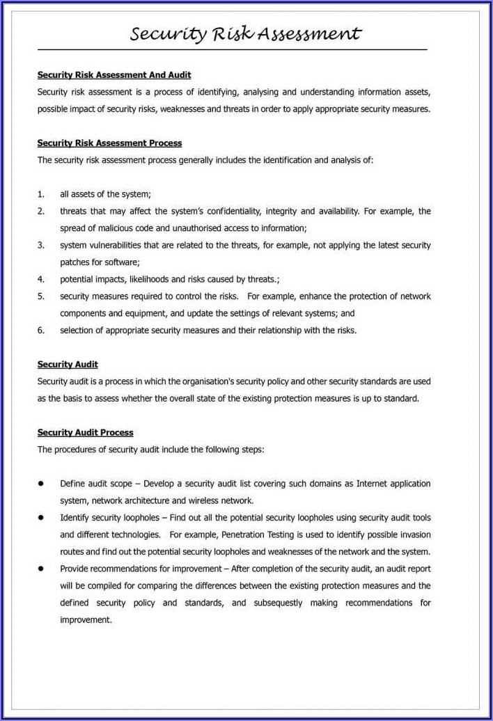 Information Security Policies And Procedures Examples