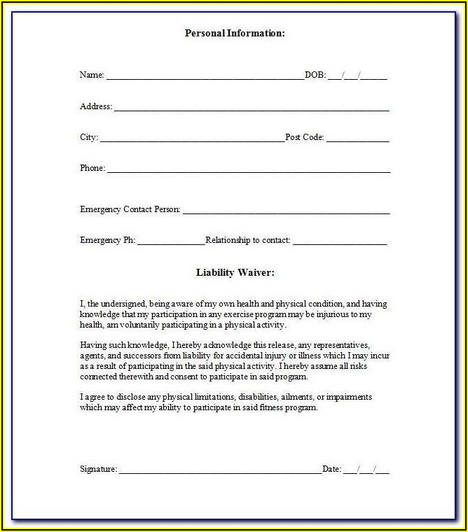 Insurance Waiver Template