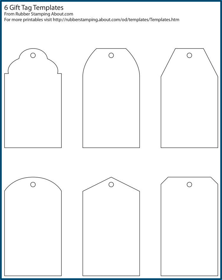 Large Gift Tag Template Word