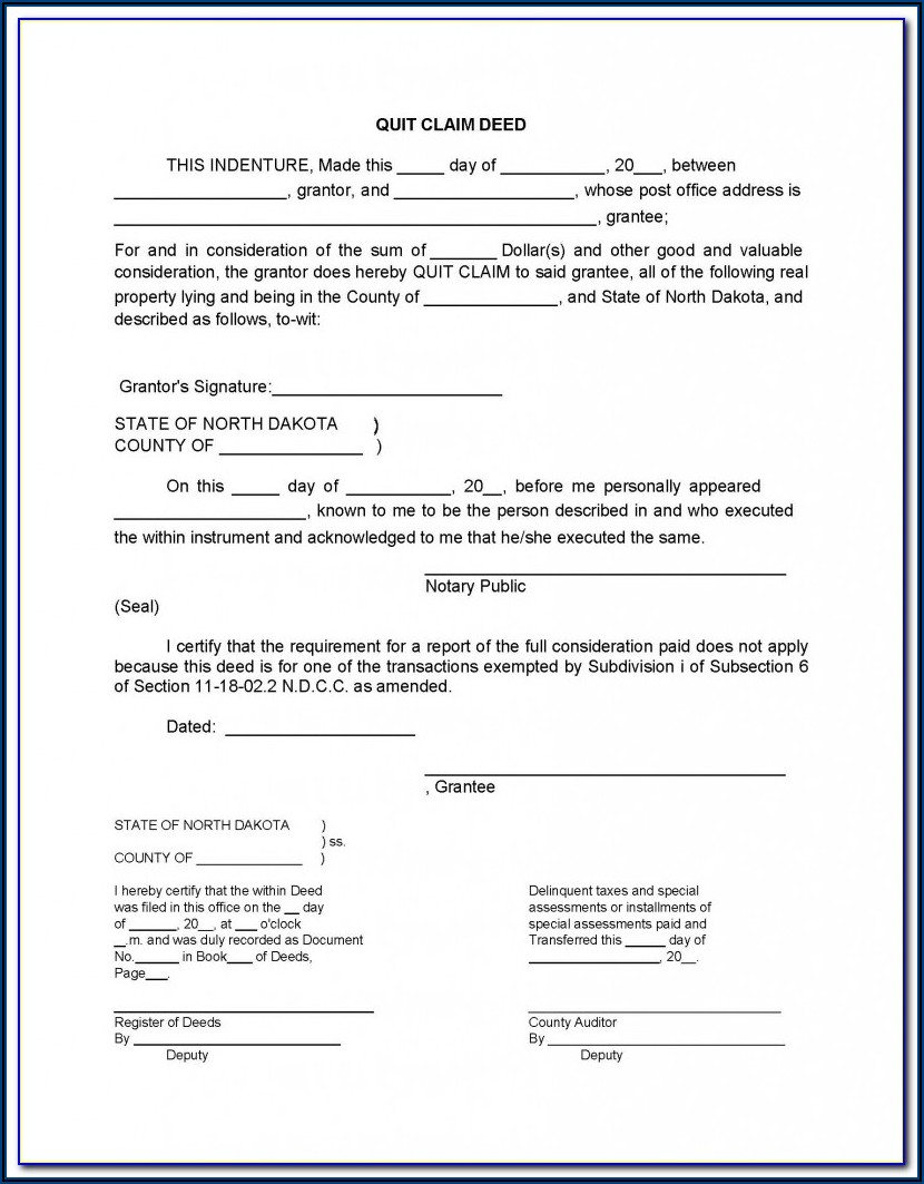 Lee County Quit Claim Deed Form