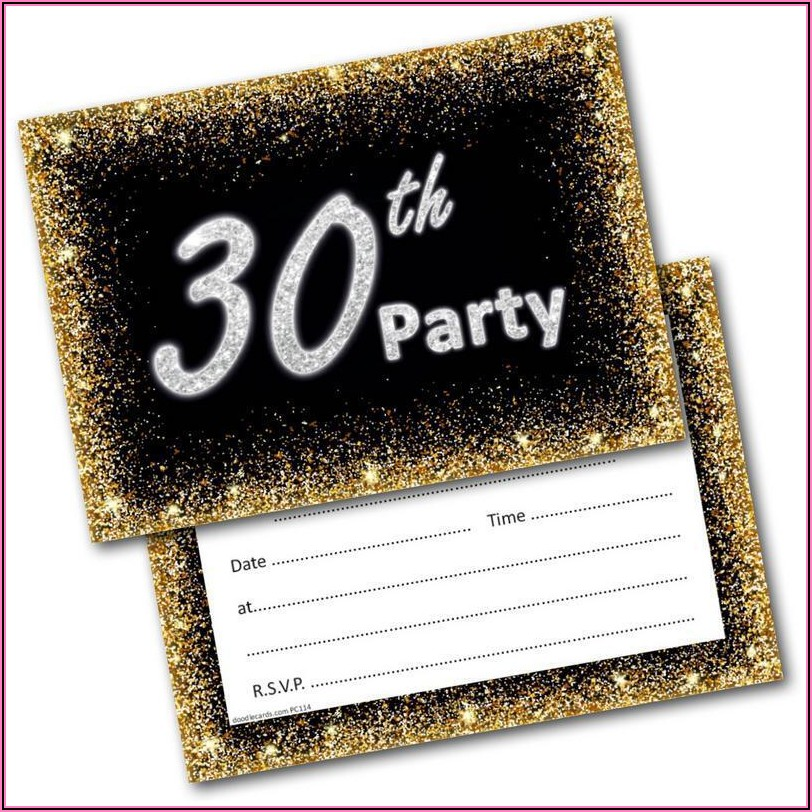 Male 30th Birthday Party Invitations