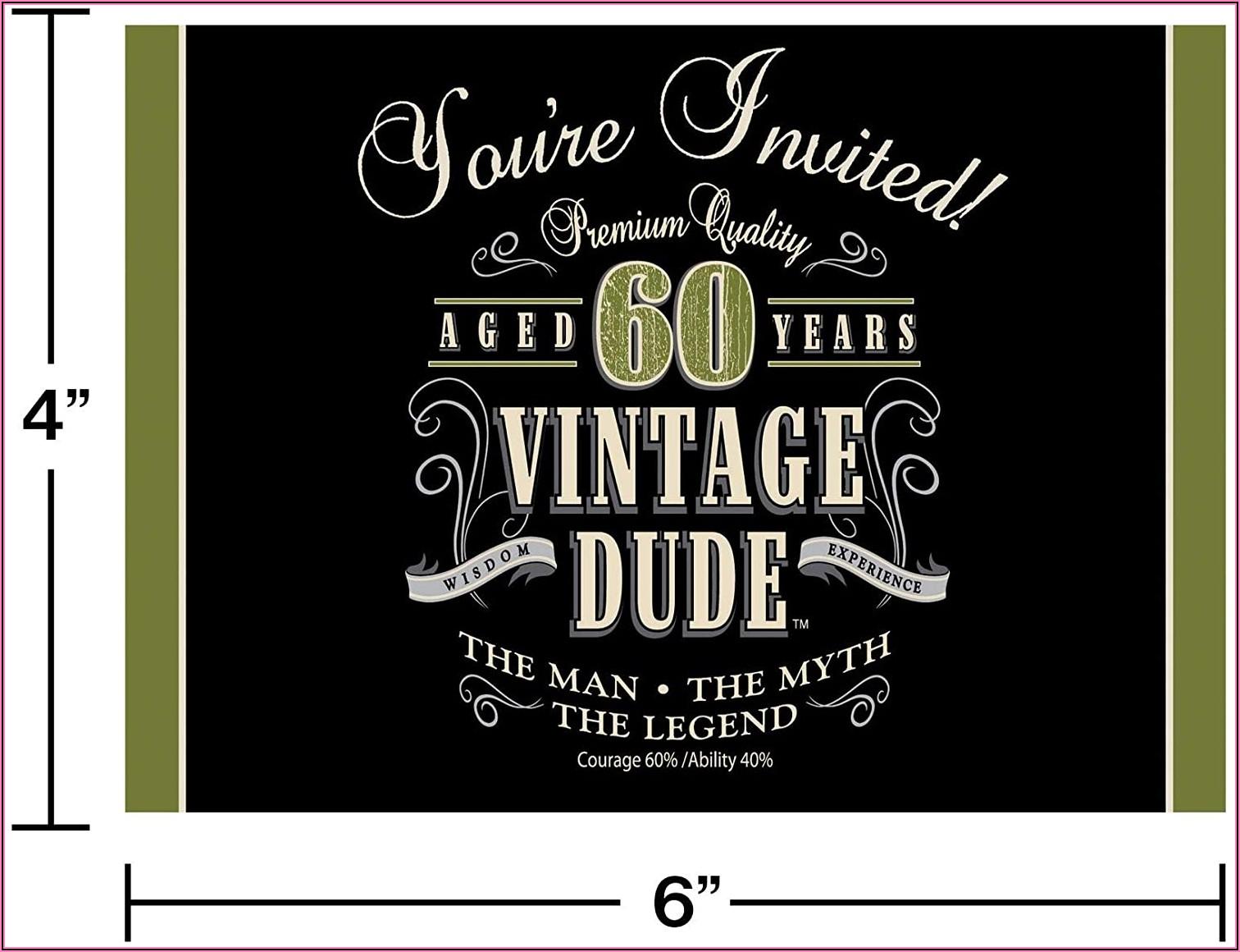 Male 60th Surprise Birthday Invitations