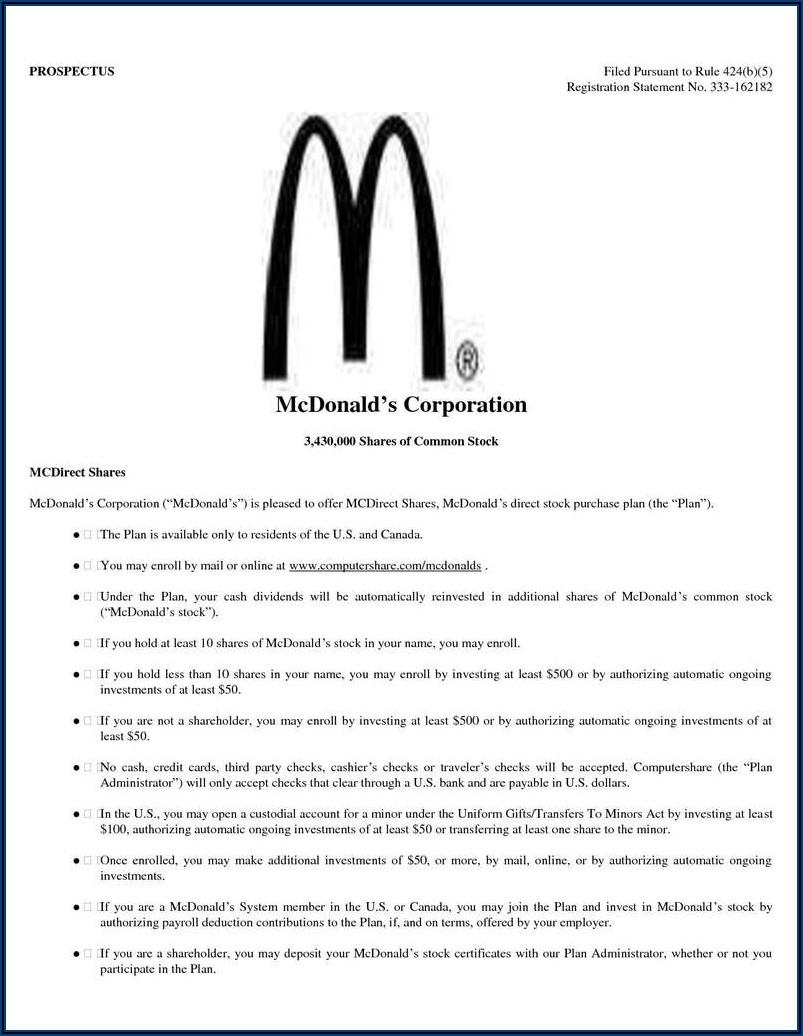 Mcdonalds Job Application Form Canada