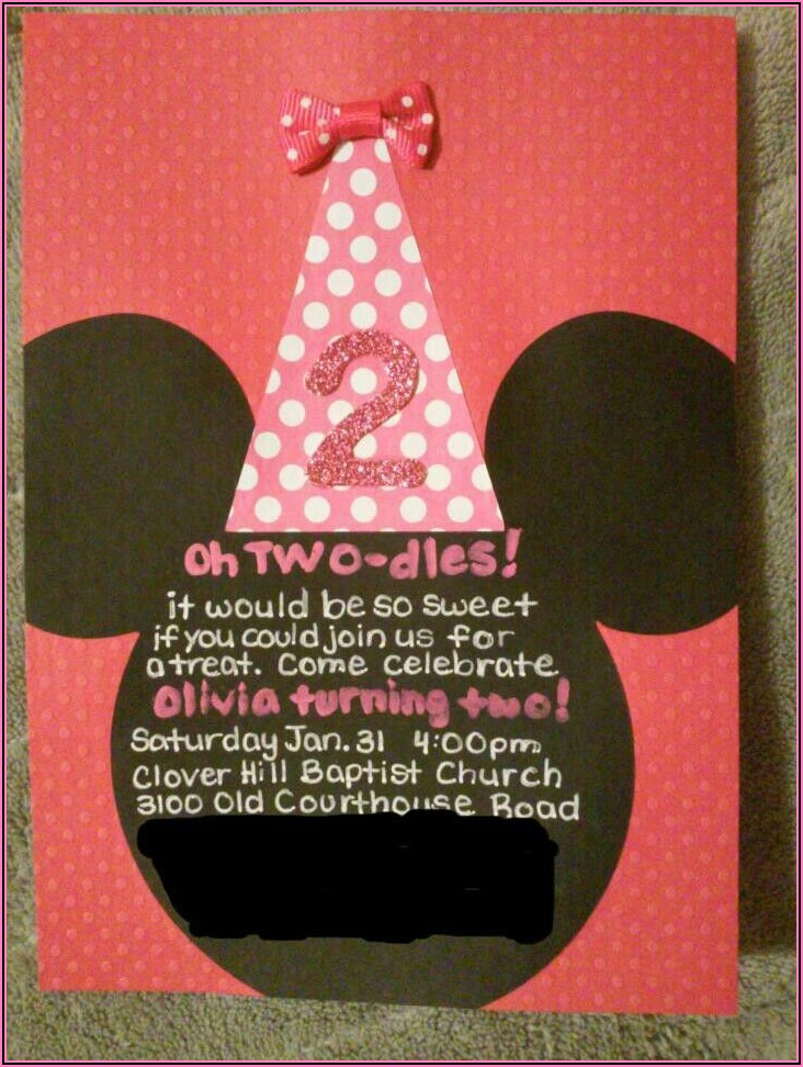 Minnie Mouse Birthday Invitations Cricut