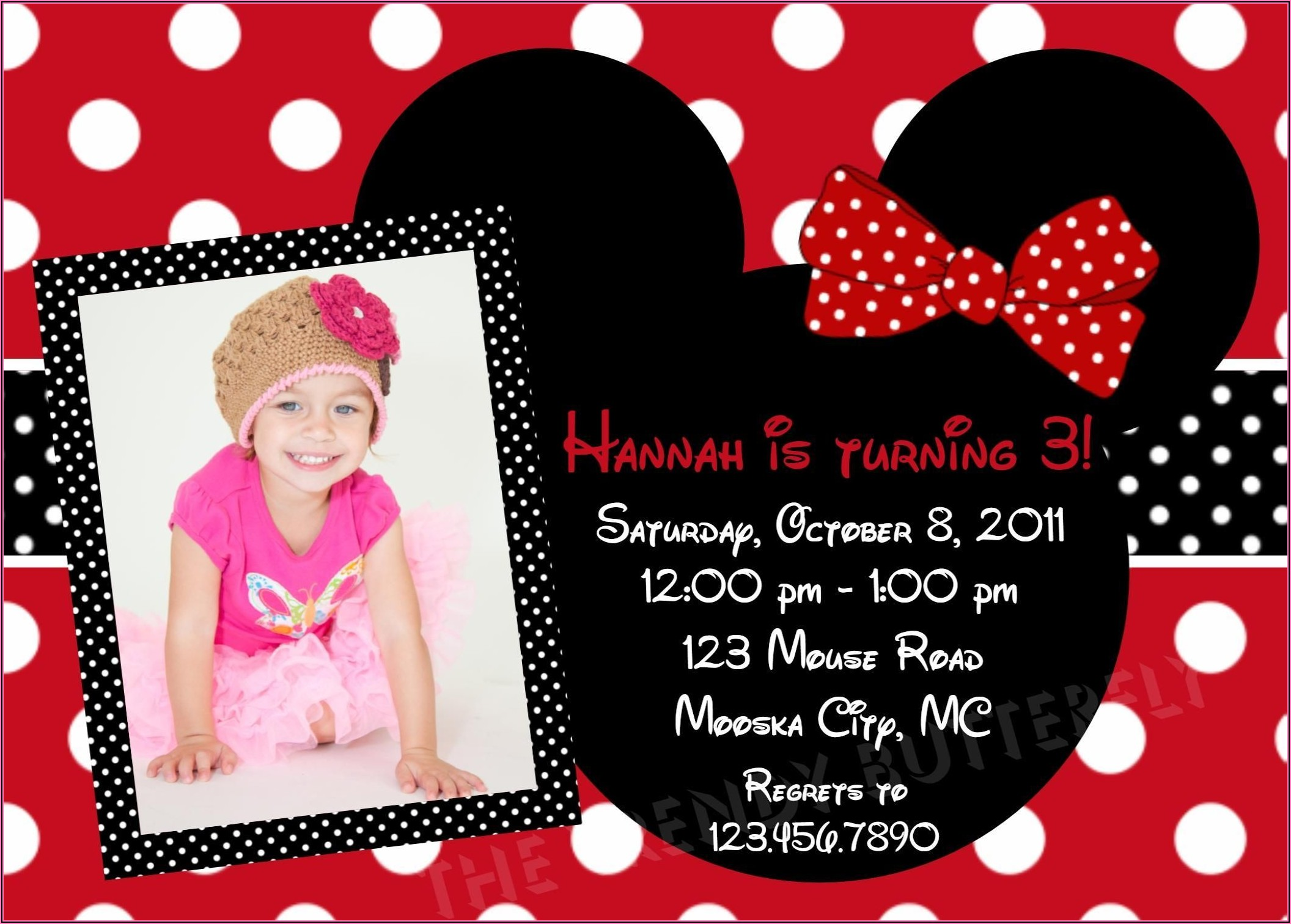 Minnie Mouse Birthday Invitations Free Download