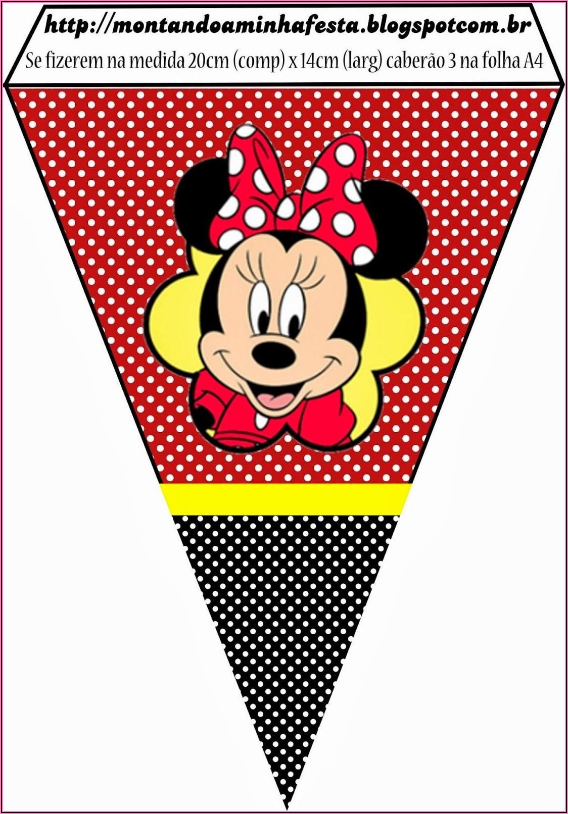 Minnie Mouse Birthday Invitations Free Printables
