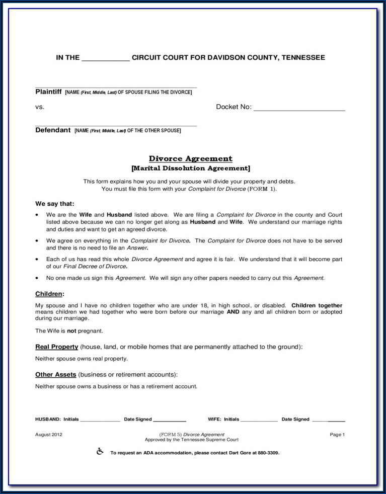 Montgomery County Divorce Forms Pa