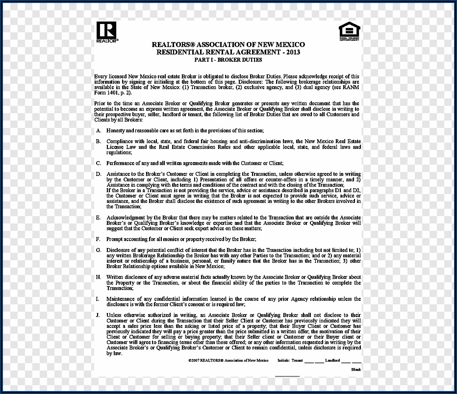 New Mexico Real Estate Contract Forms