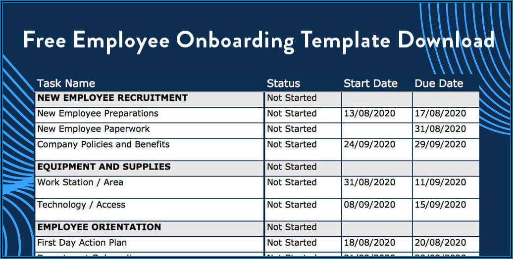 New Staff Onboarding Template