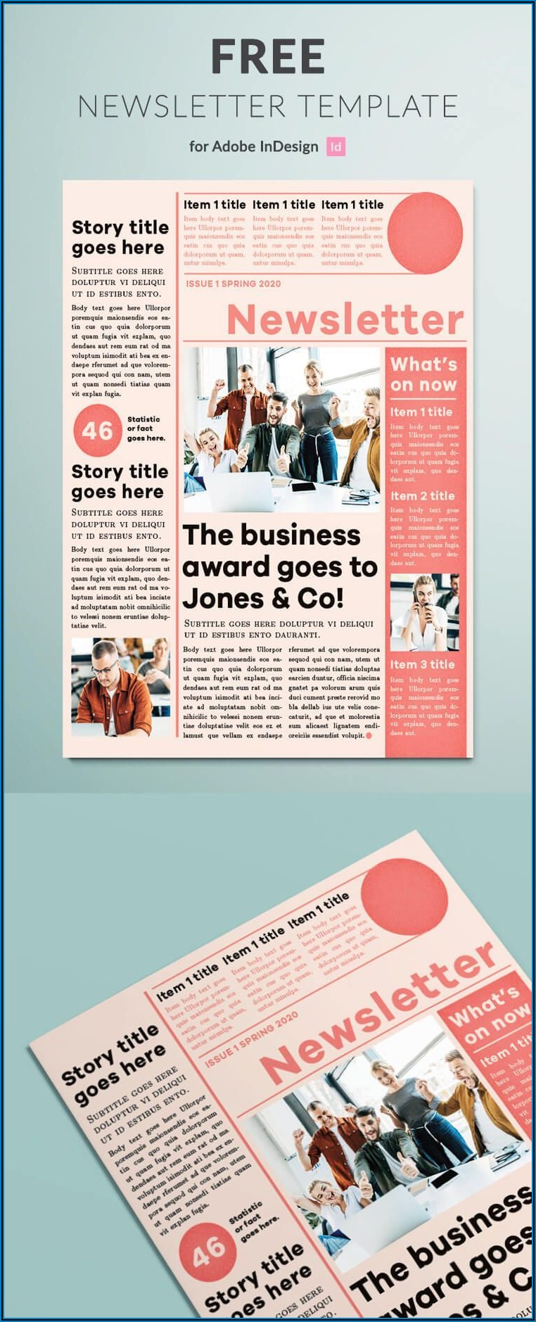 Newsletter Templates Free Download Indesign